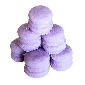 Lavender Macaron Sugar Scrub for exfoliating skin