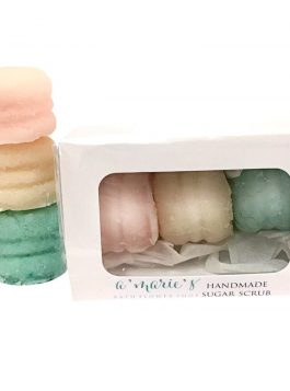 Sweet Delights Box of 3 Sugar Scrub Macaron