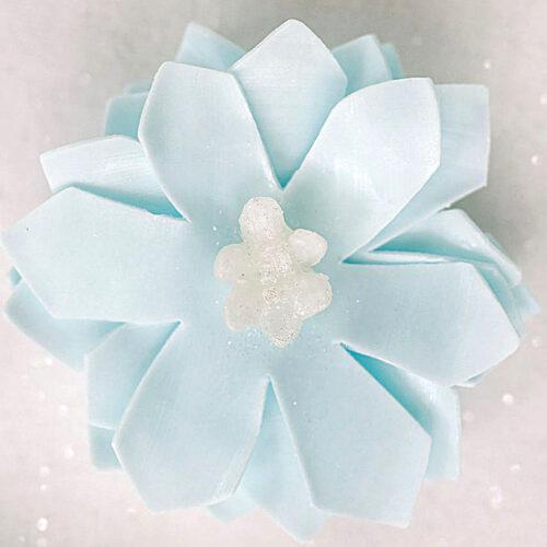 Glistening Snowflake Petite Soap Flower
