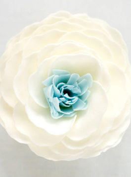Something Blue Bathing Petal Soap Flower